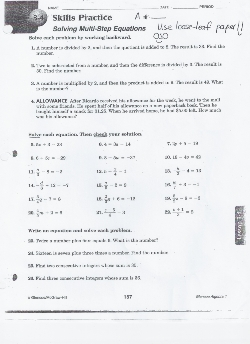 math worksheet : friedrich von steuben metropolitan science center : Solving Equations Using Addition And Subtraction Worksheets