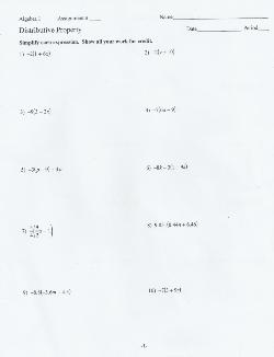 All Homework - Honors/Scholar Algebra 1 - Friedrich Von ...